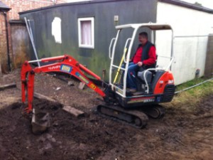 Laying the foundations for the new storage container